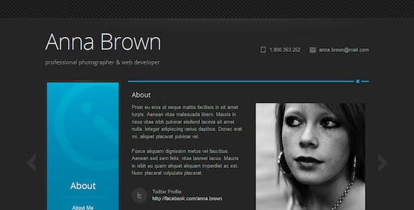 Cascade - Personal vCard WordPress Theme