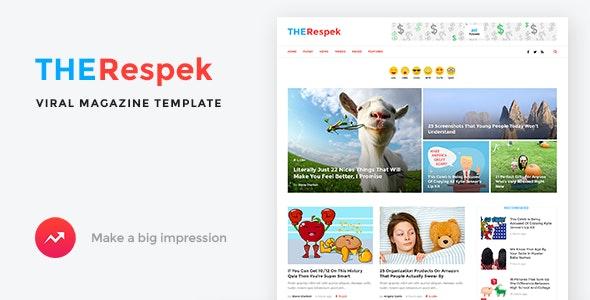 TheRespek - Viral Magazine PSD Template - Entertainment PSD Templates