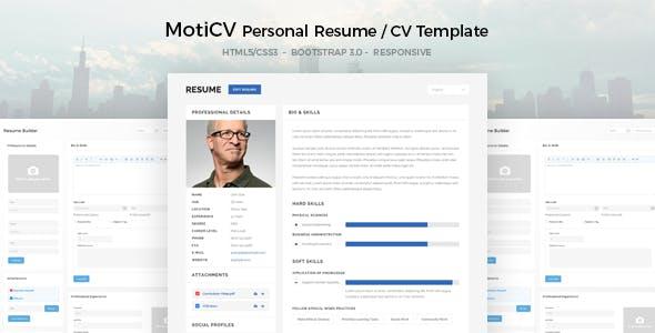 MotiCV - Resume / CV HTML5 Template