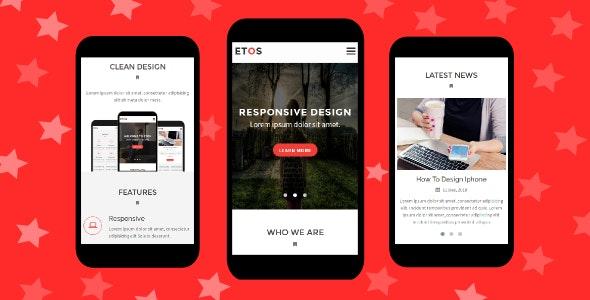 Etos - Responsive Mobile Template - Mobile Site Templates
