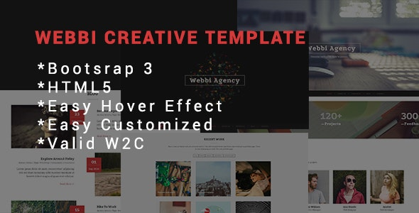 Webbi Creative Template - Portfolio Creative