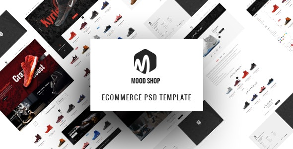 MoodShop - Modern eCommerce PSD Template for Selling Footwear Online - Shopping Retail