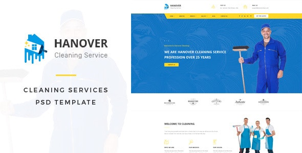 Hanover : Cleaning Services PSD Template - Business Corporate