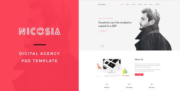Nicosia : Digital Agency PSD Template - Portfolio Creative