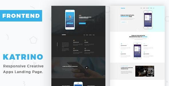 Katrino - Responsive App Landing Page - Business Corporate