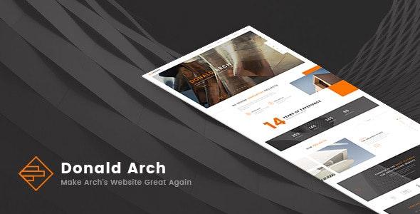 Donald Arch - Responsive Architecture HTML5 Template - Portfolio Creative