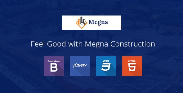 Megna Construction and Architecture Responsive HTML Template - Business Corporate