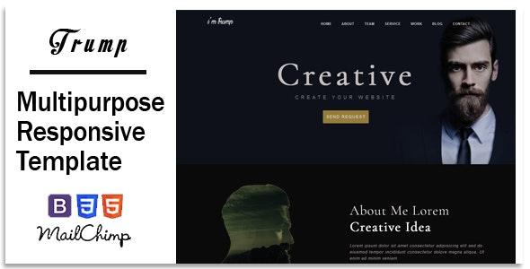 Trump - Responsive Corporate, Business, Creative , Portfolio & Blog Template - Creative Site Templates