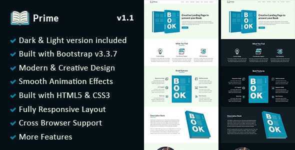 Prime - Responsive Book Landing Page - Landing Pages Marketing