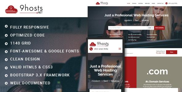 9Hosts.NET-Web Hosting Domain Technology Responsive HTML Template - Hosting Technology
