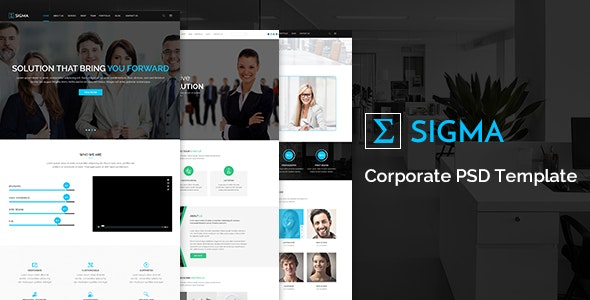 Sigma Corporate PSD Template - Corporate PSD Templates