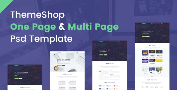 ThemeShop - One Page & Multi Page PSD Template