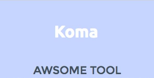 Koma - Premium Marketing Unbounce Landing Page