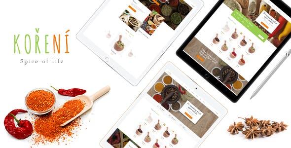 Leo Koreni - Condiment & Spices Food PrestaShop Theme