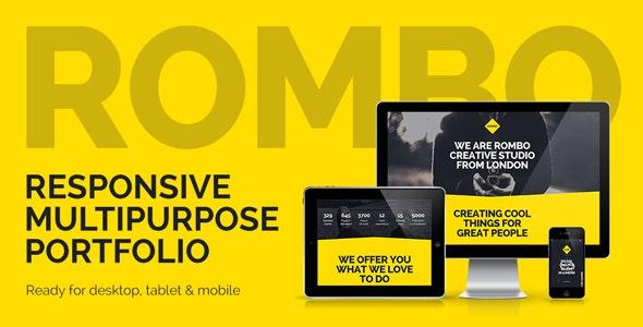 Rombo - Responsive Multipurpose Portfolio Muse Template - Creative Muse Templates
