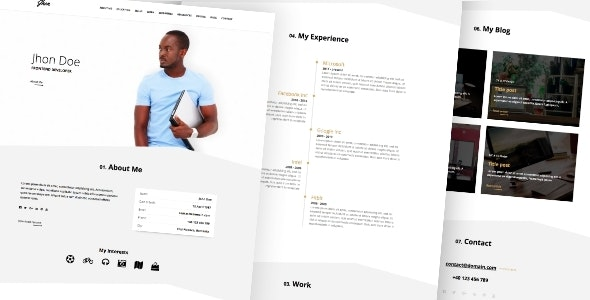 Resume / CV - Bootstrap Theme - Resume / CV Specialty Pages