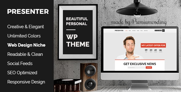 Presenter - Bold Theme for Entrepreneurs With Creative Blog - Personal Blog / Magazine