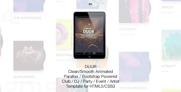 Duur - Music Band Musicians & DJ's HTML Template - Music and Bands Entertainment