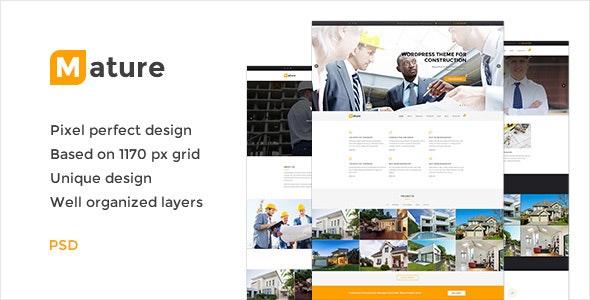 Mature — Building & Construction PSD Template - Business Corporate