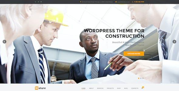 Mature — Building & Construction PSD Template