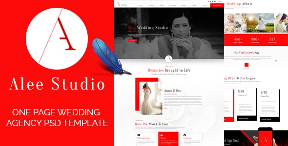Wedding Planner, Party or Event Organizers. - Entertainment PSD Templates