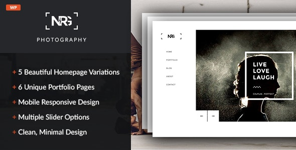 NRG Photography - Modern Photography Theme - Photography Creative