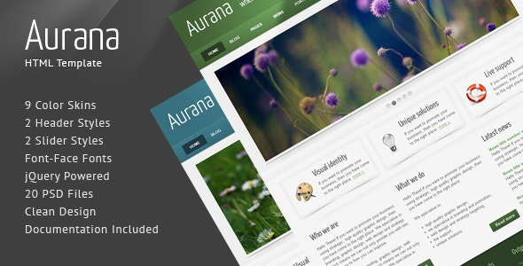 Aurana - Clean HTML Template - Creative Site Templates