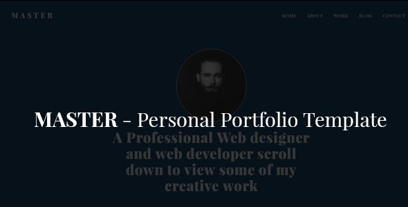 Master - Personal Portfolio Template