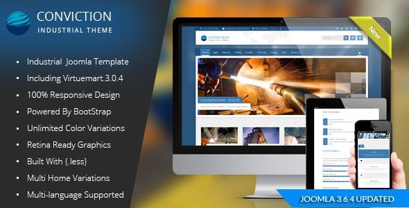 Conviction - Responsive Multi-Purpose Joomla Theme - Business Corporate