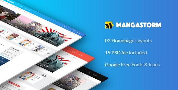 MangaStorm - PSD Manga Template - Miscellaneous PSD Templates