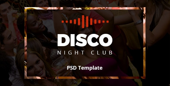 Disco Night Club - PSD Template - Entertainment PSD Templates