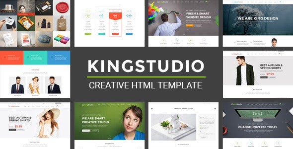 Kingstudio - MultiPurpose HTML Template - Creative Site Templates