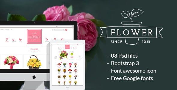 Flower Store PSD Design Template