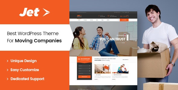 Jet - Home Moving Services WordPress Theme - Corporate WordPress