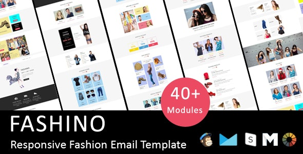 Fashino - Responsive Email Template + Stampready Online Builder Access - Email Templates Marketing