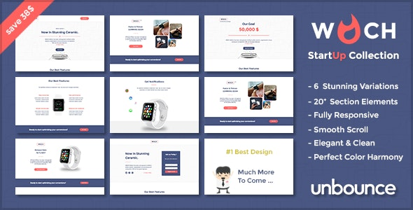 WOCH - Startup Collection - unbounce Responsive Landing Page - Unbounce Landing Pages Marketing