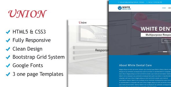 Union - Corporate Multipurpose HTML one page Templates