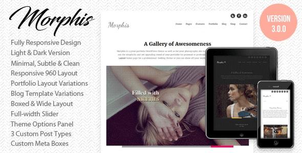 Morphis - Responsive WordPress Theme - Portfolio Creative