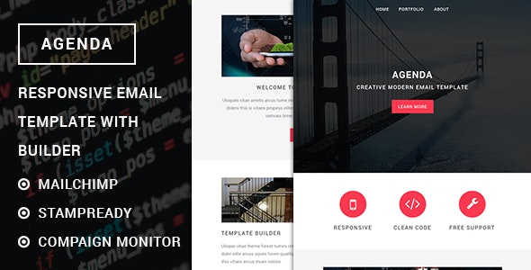 Agenda - Responsive email template with stampready builder - Newsletters Email Templates