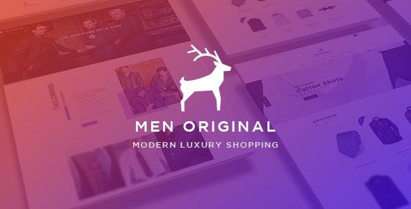 Ap Men Original - eCommerce PSD Template - Retail Photoshop