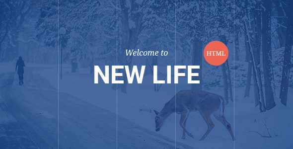 New Life - One Page Creative HTML5 Responsive Template - Creative Site Templates