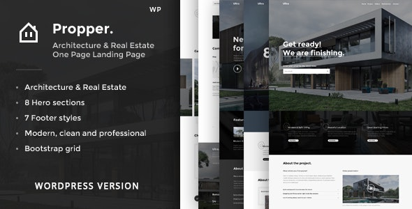 Propper - Architecture WordPress Theme - Real Estate WordPress