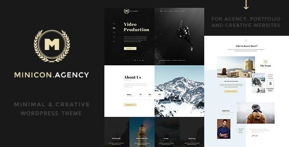 Minicon - Minimal Creative WordPress Theme - Portfolio Creative