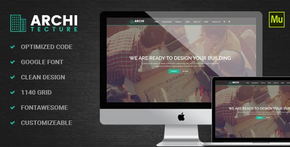 Architecture | Interior - Muse Template - Corporate Muse Templates