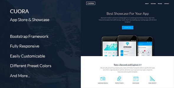 Cuora - App Landing Page - Software Technology