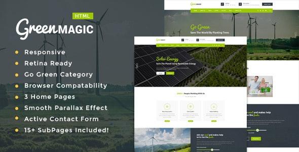 Green Magic - Environment / Non-Profit HTML Template - Environmental Nonprofit