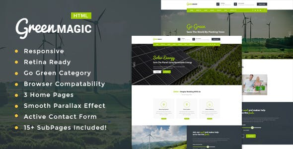 Green Magic - Environment / Non-Profit HTML Template