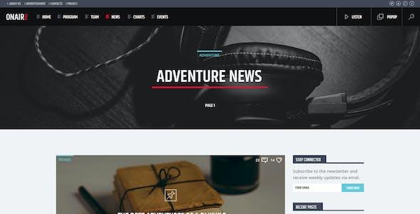 ONAIR2 - Radio station PSD website template