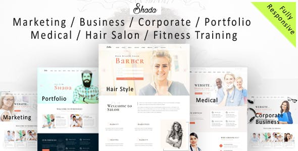 Shada - Responsive  one page and multipurpose HTML template