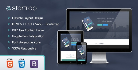Startrap - Mobile App Landing Page - Software Technology